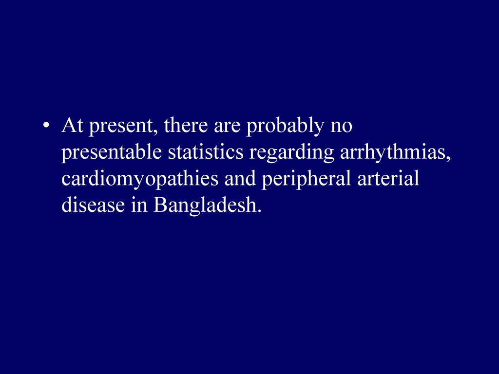 Overview of CVD in Bangladesh 22.07.16-12