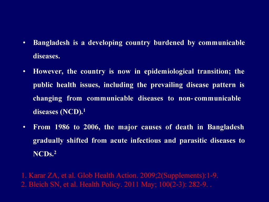Overview of CVD in Bangladesh 22.07.16-2