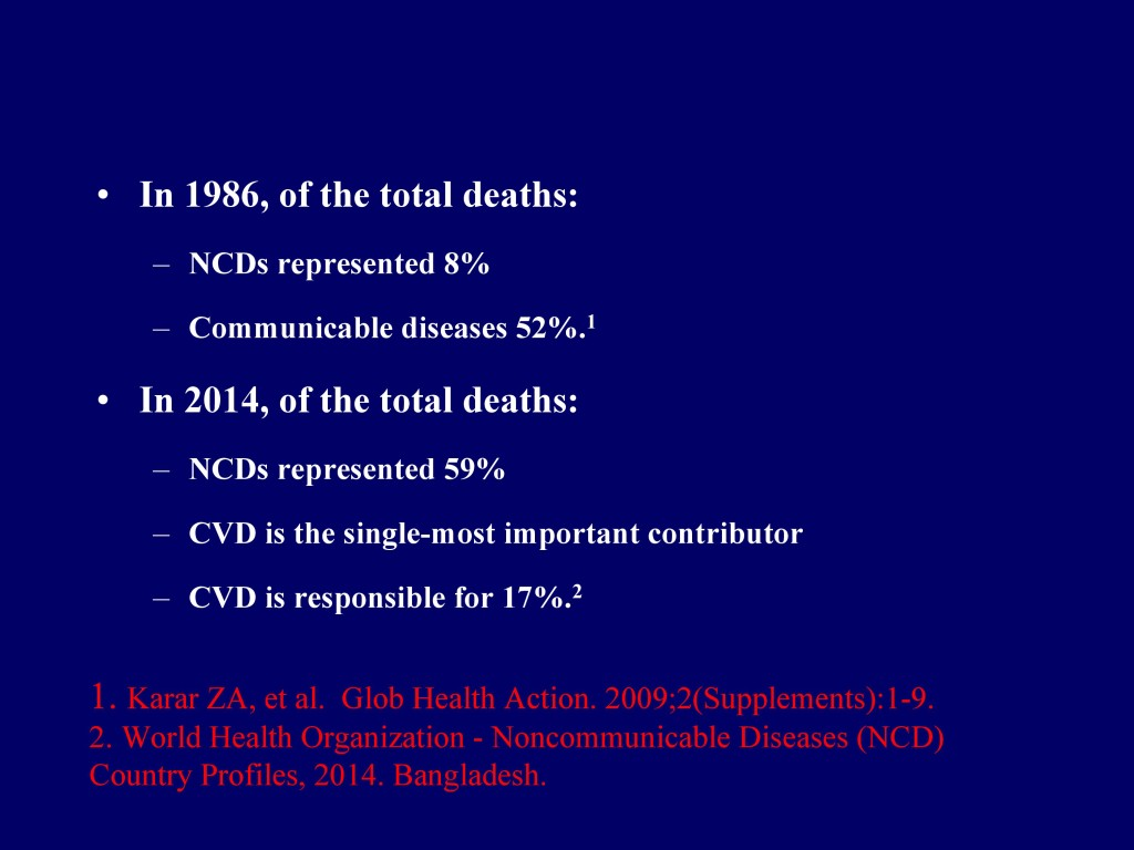 Overview of CVD in Bangladesh 22.07.16-3